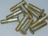 "10 x 1/4"" BSF Bolt Countersunk Slotted Head Cadmium Plated  Length 1"" [P10]"